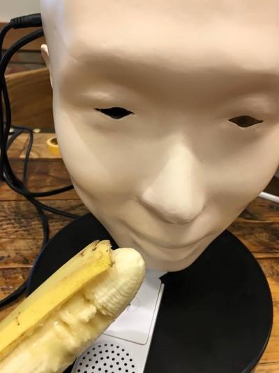 バナナアート、食べて、ロボ