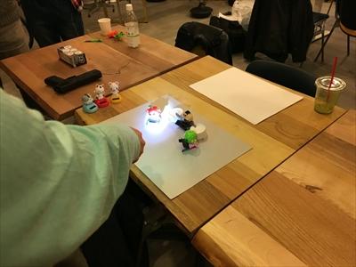 ライト制御でロボット
